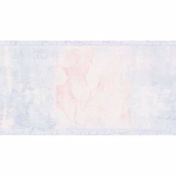 Light Blue Floral Silhouettes Border - Lucky Day
