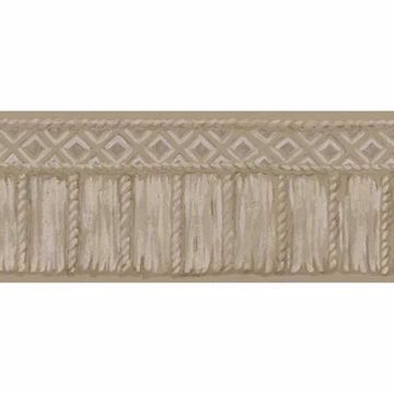 Taupe Tribal Rope Border - Lucky Day