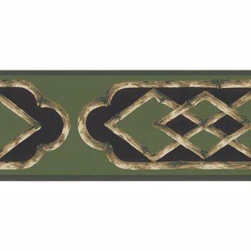 Green Bamboo Frame Border - Lucky Day