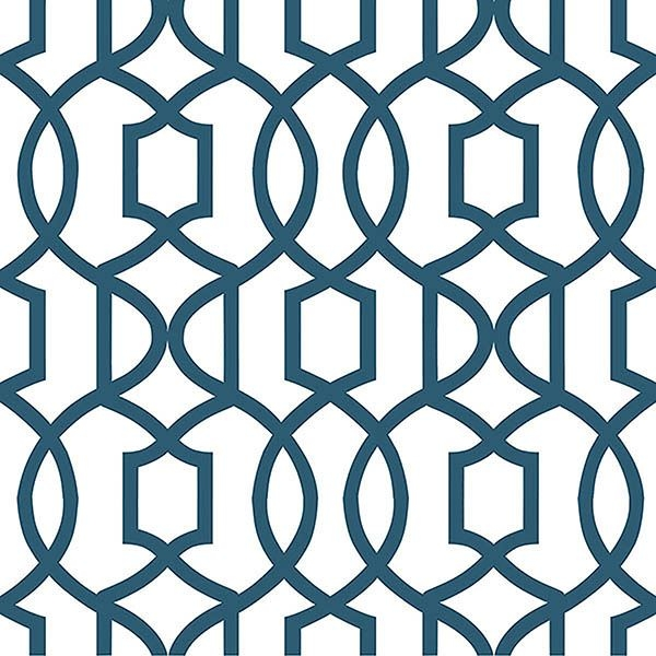 Picture of Navy Grand Trellis Peel And Stick Wallpaper