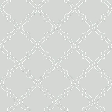 Picture of Grey Quatrefoil Peel And Stick Wallpaper