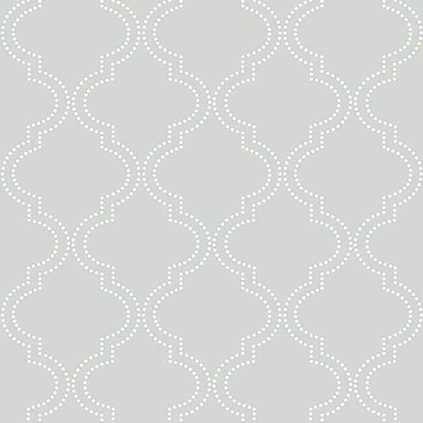 Picture of Grey Quatrefoil Peel And Stick Wallpaper