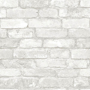 Picture of Grey and White Brick Peel And Stick Wallpaper