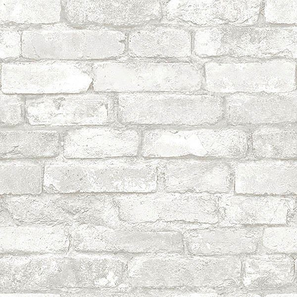 Nu3010 Grey And White Brick Peel And Stick Wallpaper