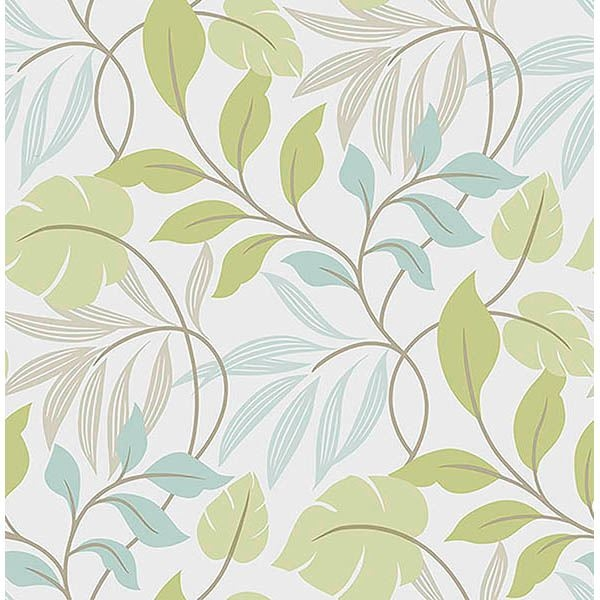 Picture of Blue and Green Meadow Peel And Stick Wallpaper