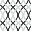 Picture of Black and Silver Lattice Peel And Stick Wallpaper