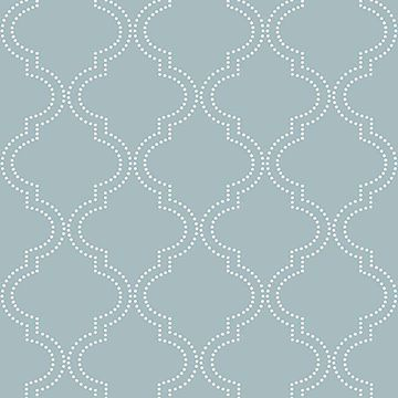 Picture of Slate Blue Quatrefoil Peel And Stick Wallpaper