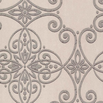 Picture of Galina Grey Scroll Damask