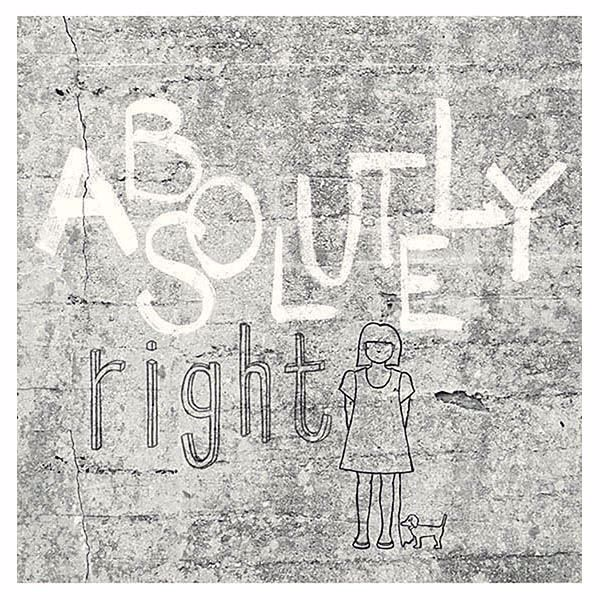 Picture of Absolutely Right Light Grey Graphic Wall Mural