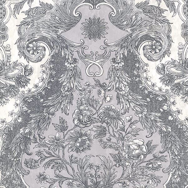 Picture of Magella Light Grey Damask