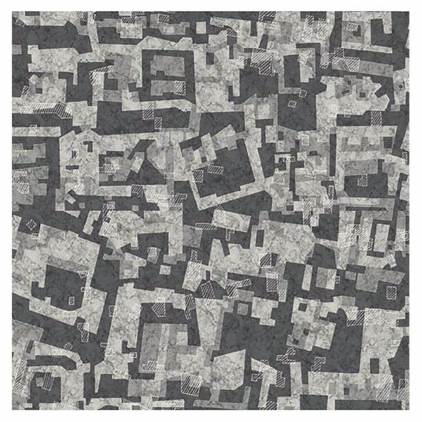 Picture of Marble Mara Grey Geometric Mural