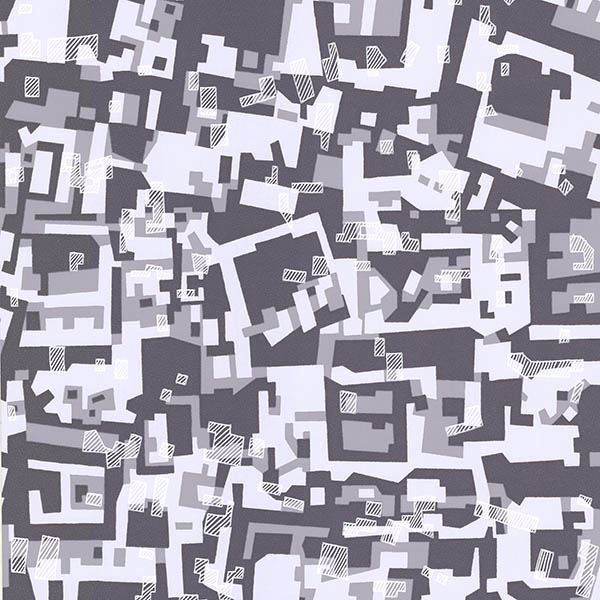 Picture of Collision Purple Geometric