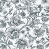 Picture of Kepler Light Blue Sketched Floral
