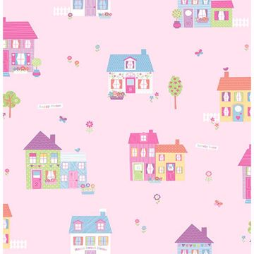 Picture of Happy Street Pink Houses