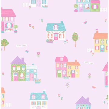 Picture of Happy Street Purple Houses