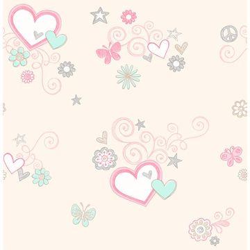 Picture of Heart Felt Beige Hearts