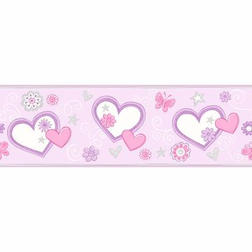 Picture of Heart Felt Doodle Lilac Border