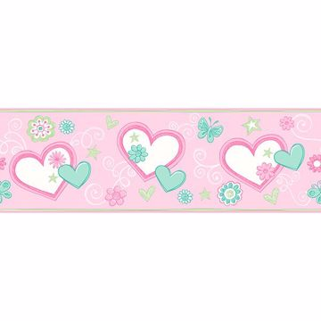 Picture of Heart Felt Doodle Green Border