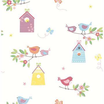 Picture of Birdhouses White Birds