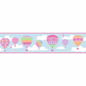 Picture of Balloons Blue Border