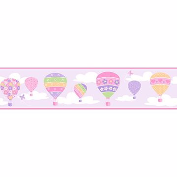 Picture of Balloons Lilac Border