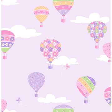Picture of Hot Air Balloons Lilac Balloons