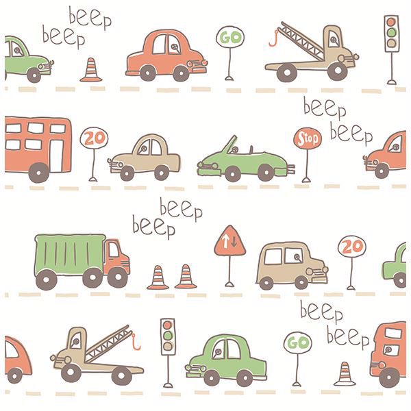 Picture of Beep Beep Taupe Cars