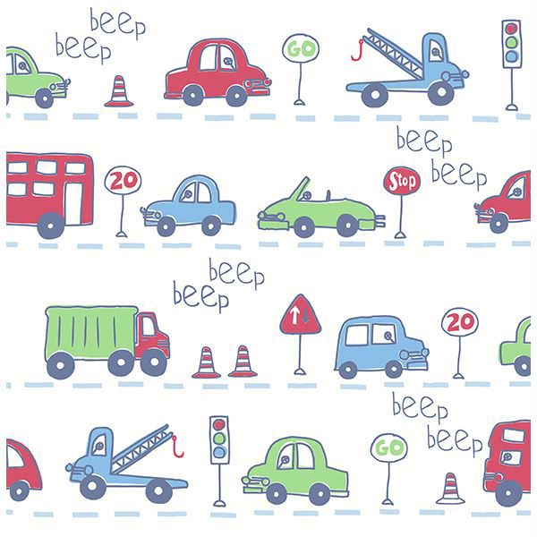 Picture of Beep Beep Blue Cars