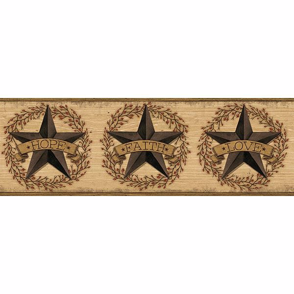 Picture of Faith Barn Star Brown Border