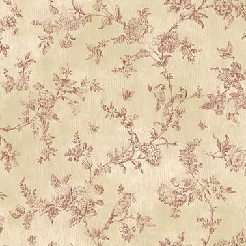 Picture of French Nightingale Dark Red Toile