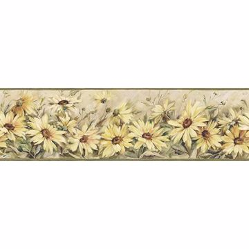Picture of Regal Sunflowers Yellow Border