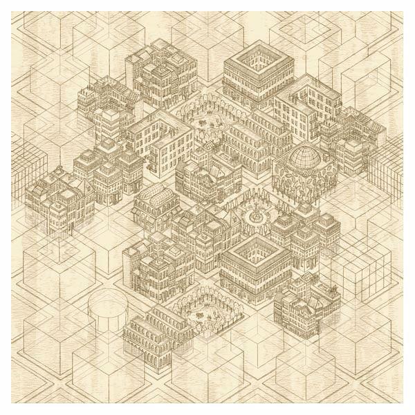 Picture of Building Blocks Honey Mural