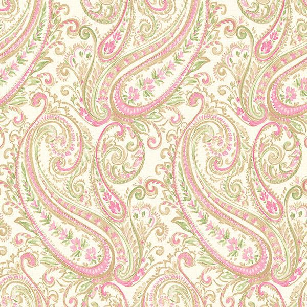 Picture of Penelope Pink Paisley Wallpaper