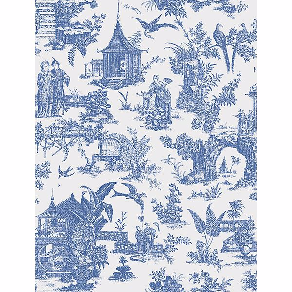Picture of Sage Blue Toile