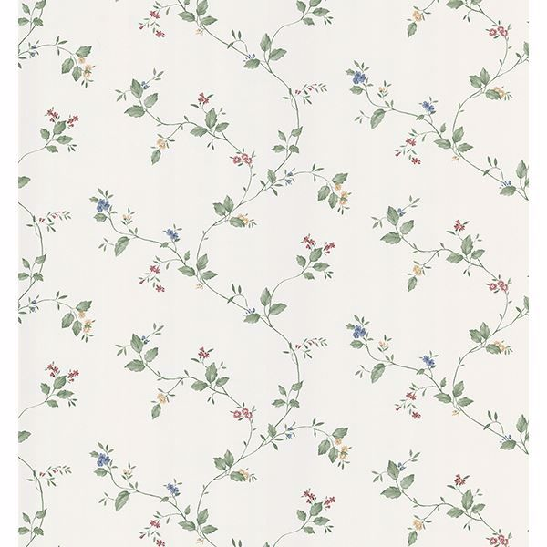 Picture of Pinkham Burgundy Floral Scroll