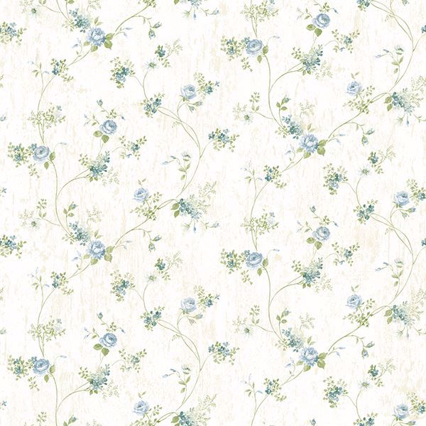 Picture of Persimone Blue Floral Vine