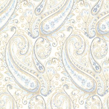 Picture of Penelope Blue Paisley Wallpaper