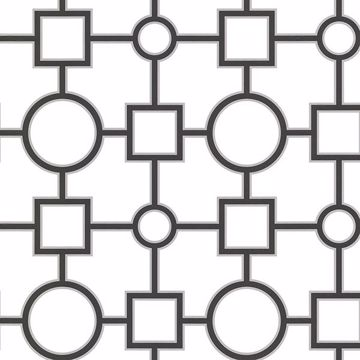Picture of Geovine Black Geometric