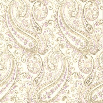 Picture of Penelope Purple Paisley Wallpaper