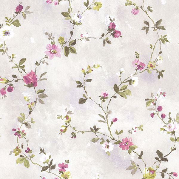 Picture of Sarafina Magenta Floral Scroll