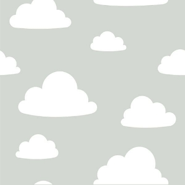Picture of Clouds Grey Peel And Stick Wallpaper