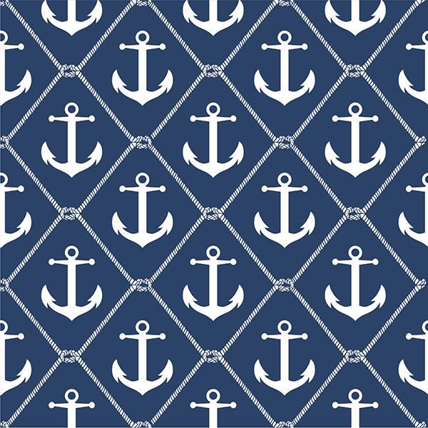 Picture of Set Sail Navy Peel And Stick Wallpaper