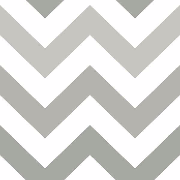 Picture of Zig Zag Grey Peel And Stick Wallpaper