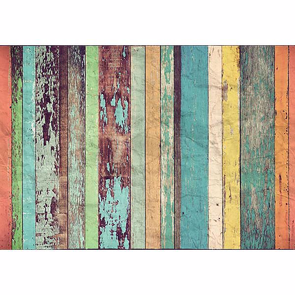 Picture of Colored Wood Wall Mural