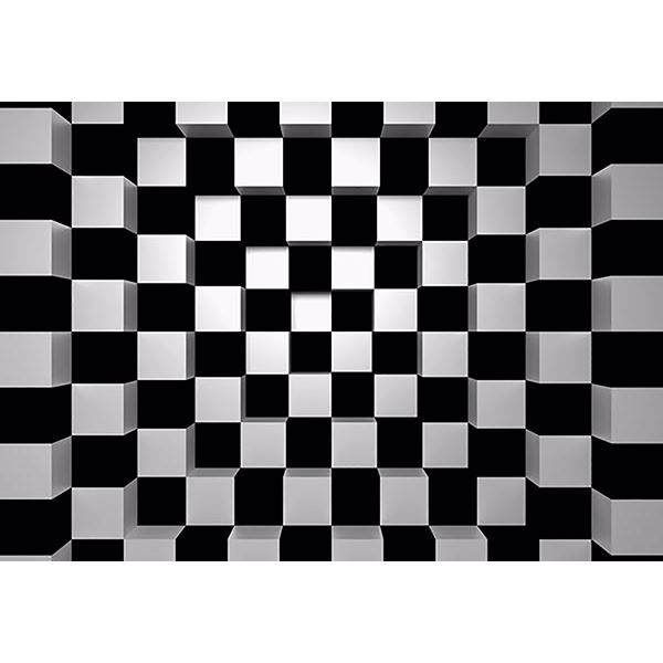 Picture of Black & White Squares Wall Mural