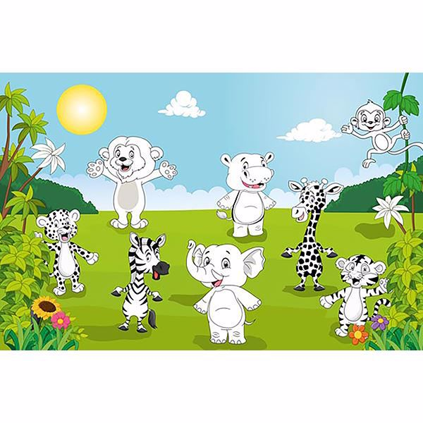 Picture of Happy Animals Wall Mural