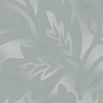 Picture of Velma Mint Flocked Paisley Wallpaper