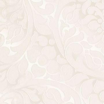 Picture of Cascada Cream Flocked Medallion