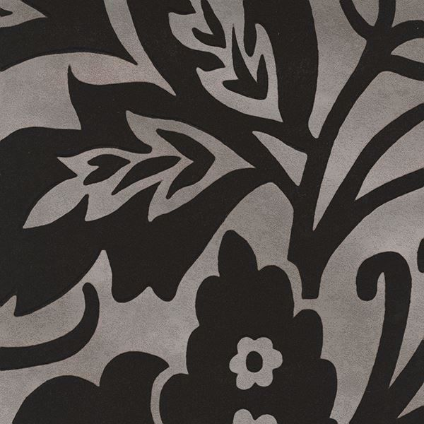 Picture of Velma Brown Flocked Paisley Wallpaper