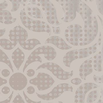 Picture of Leanne Taupe Metallic Dot Medallion